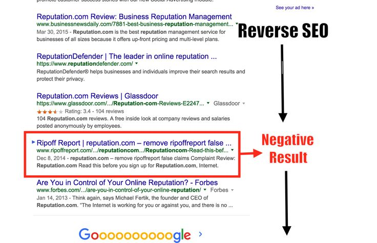 Reverse SEO Services for Online Reputation Management